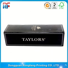 custom branded wine carrier box with clear window