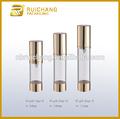 15ml / 20ml / 30ml botella sin aire, sin aire redondo de aluminio botella, frasco dosificador cosmética sin aire