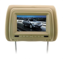 7 inch IR Transmitter Headrest Game Player high qaulity car headrest dvd