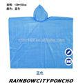 Desechables pe transparente de coloresimpermeable, pe poncho