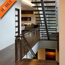 indoor glass stair railings/stair stainless steel balusters/stainless steel balcony railing