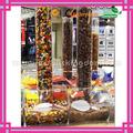 grande acrílico distribuidor de doces com caixa de acrílico tubo em anexo