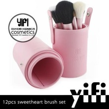 Newly arrival! Miss Yifi 12pcs sweetheart make up brush set box