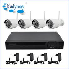 Promotion !! 4chs WIFI 1.0Megapixels outdoor waterproof 30M ir ip camera NVR KITS(720P) support network/PTZ