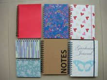 Difference design paper cover spiral notebook A5,spiral notepad A5