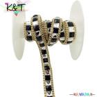 Wholesale rhinestone close cup chain rhinestone lace roll chain