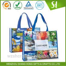Cheap wholesale pp non woven shopping bag, pictures printing non woven shopping bag