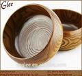 Leite antigas de madeira tigela/clear saladeira para porcas de feijão