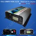 220v 50hz turbina de vento gerador, 1500w no laço da gradeinversor de energia eólica, dc 45-90v 190-260v para