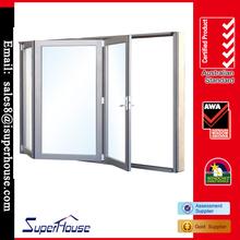 Double/Low-E glazed Australia standard aluminium bi folding door/balcony door/glass door