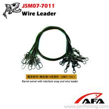 Strength Barrel swivel with interlock snap wire leader fishing accessories JSM07-7011