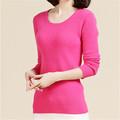 Nuevo 2015 de las señoras de moda los suéteres de cachemira suéter de cachemira 100% suéter de cachemira