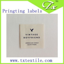 Customized Garment Woven labels, satin size labels, brand labels for clothing