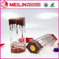 2014 nuevo estilo claro de chocolate caja de embalaje de la caja de pvc transparente cajas pp