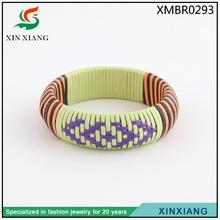 2014 new trendy charm african handmade wide resin bracelet