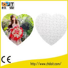 heart shape paper jigsaw puzzle,3D puzzle toy jigsaw manufacturer