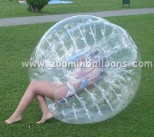 buddy playing inflatable belly bumper ball BB20