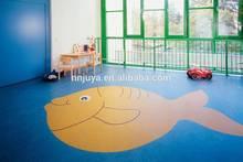 Eco- มิตรวัสดุปูพื้นห้องออกกำลังกายม้วนพื้นยางสำหรับห้องเด็ก