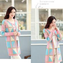 b121 moda coreano maglia cardigan in un lungo cappotto cappotto custom larghi