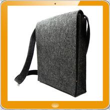 Hot sale 100% polyester felt long strap messenger bag