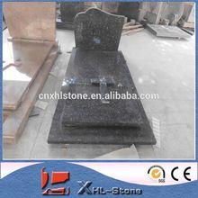 Memorial Usage Europe blue pearl granite Tombstone/gravestone/headstone