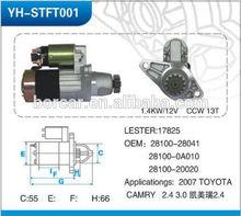 2007 Toyota Camry starter 2.4 &3.0 28100-28041/28100-0A010/28100-20020