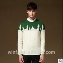2014 Christmas tree print fashion handsome comfortable handmade knit wool sweater designs