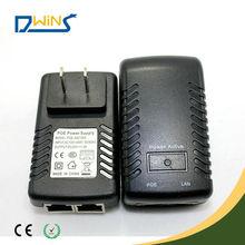 Manufacture with led light wallmount 12V 24v 48V poe power adapter