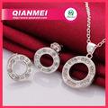diseño de moda colgante de plata de collar y aretes de joyería al por mayor conjunto chino de bisutería