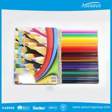 36Pcs Hexagonal Wooden Color Pencil Set