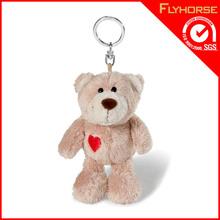 Promotional cute plush bear shape key chain wholesale