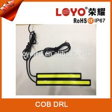 New model car led running light 12V-14V Polarity COB DRL for daytime running light