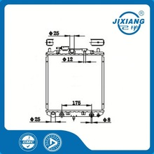 aluminum radiator tube /mechanical radiator /brazing radiator For Daihatsu CORE SIZE :350*318*16/26 OEM :16400-87267/71