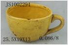 antique Handmade ceramic flower pot coffee cup