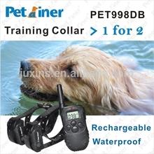 2014 New Updated Electric Dog Training Shock Collars PET998DB-2 Electronic Barking Dog Alarm