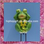Polyresin Frog Garden Decor