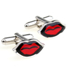 High Quality Gift For Men Red Lip Funny Cufflinks