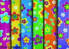 colorful daisy printed fine net woven ribbon fabric
