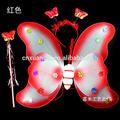 venda quente popular dupla vermelha asas de fada com flor para as crianças