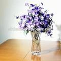 atacado decorativas de vidro transparente vaso de flor
