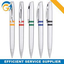Customer's Logo Printing Ball Pen Silver Holder