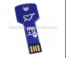 Wholesale Fancy KEY Usb flash drives, metal key shape usb Sticks Cheap, key shaped pendrives1gb 2gb 4gb 8gb