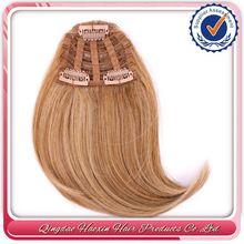 Qingdao Port Fast Shipping Highest Quality Human Hair Bang/ Human Hair Weft