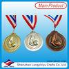 Custom metal medal medallion sprint sport metal medal with red/white/blue ribbon