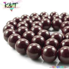 Coffee printed cheap glass jewelry beads