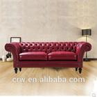 SF-4083 Classic living room furniture italy leather sofa