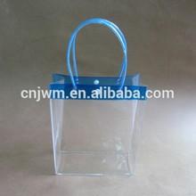 Transparent plastic pvc bag with handle
