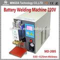 Dropshipping para ee . uu . MD-2005 220 V / 110 V mini portátil de ultrasonidos soldadura por puntos para la batería paquete