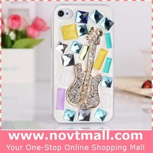 2014 wholesale for iphone 6 crystal case with rhinestone diamond Guitar