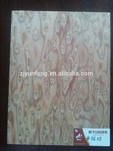 crown cut yellow cat eye recon wood veneer with fleece back for door decoration